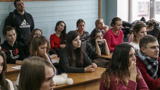 Студенты филфака